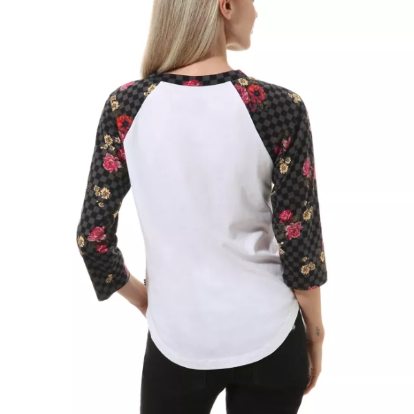 Vans Women's Botanical Tangle Raglan T - White