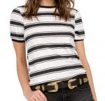 Volcom Awl Rights Striped T-Shirt (Womens)
