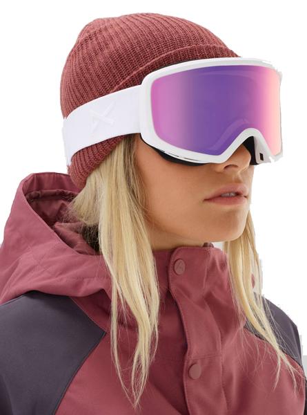 Anon Women s Deringer Goggle - White w  Sonar Pink 064445b3c01d8