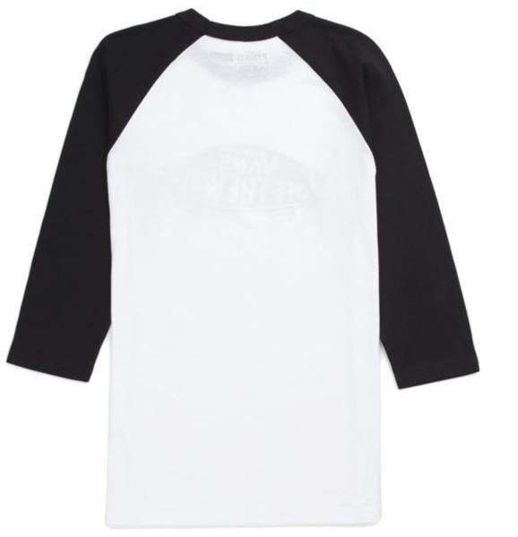 69ec0ee362 Vans Boys OTW Raglan T-Shirt - White Black