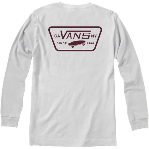 88062bba0e8032 Vans Full Patch Back LS T-Shirt - White Port