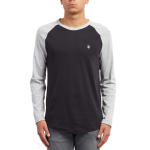 Volcom Pen Basic LS T-Shirt - Heather Grey