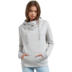 Volcom Women's Walk On By High Neck Hoodie - Heather Grey