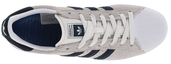 Adidas Superstar Vulc Adv Skate Shoe - White Navy b9f19e840c